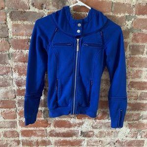 LAMB Gwen Stefani Blue Multi-Zip Hoodie